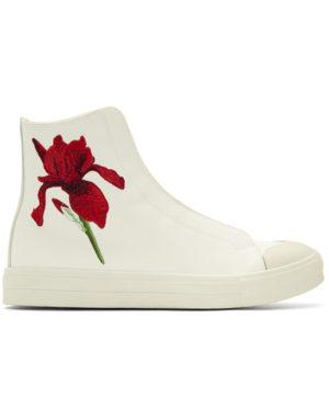 alexander mcqueen flower shoe