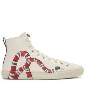 gucci snake sneaker white