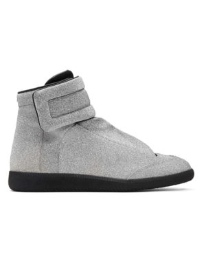 margiela silver high top sneakers