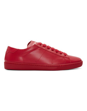 saint lauren red low top sneakers