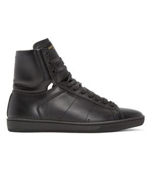 saint lauren leather high top sneaker