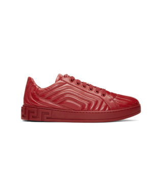 versace red quilted sneaker